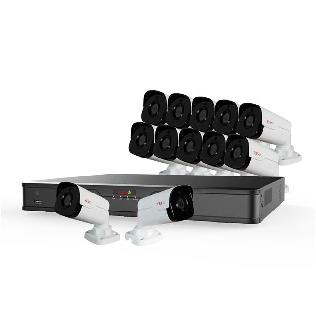 Ultra HD 16 Channel 4TB NVR Surveillance System with 12 x 4 Megapixel Cameras