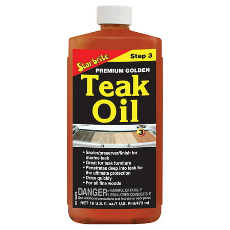 Star brite 085116PW Premium Golden Teak Oil Step 3 - 16 oz ()