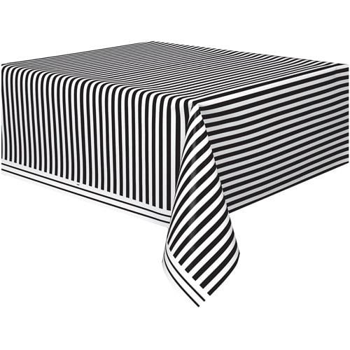 Black Striped Plastic Table Cover 108 x 54 Walmartcom