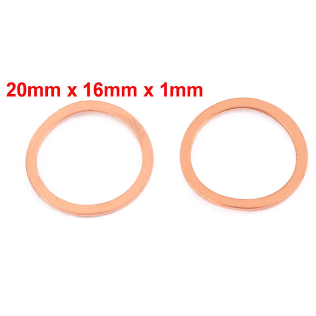 Copper crush rondelles 16 mm ID 20 mm OD-fioul eau Freins