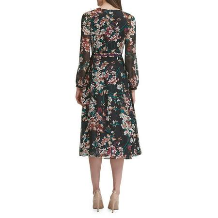 Best Romantic Azalea Chiffon Midi A-Line Dress deal