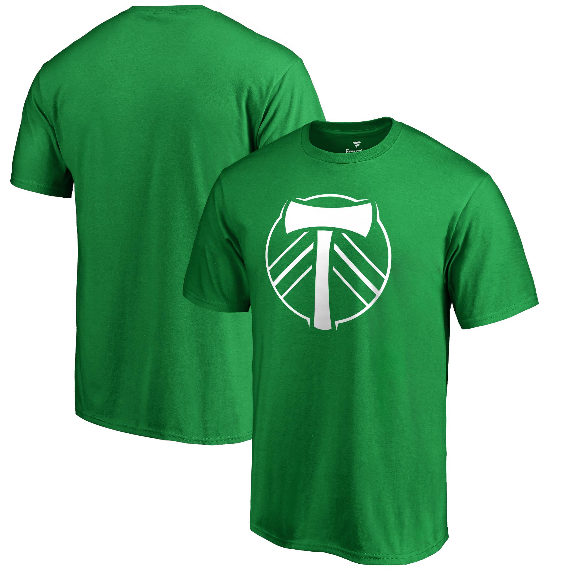 Portland Timbers Fanatics Branded St. Patrick's Day White Logo T-Shirt - Kelly Green