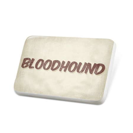 Bloodhound Pin (Porcelein Pin Bloodhound Cocktail, Vintage style Lapel Badge –)