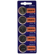 Sony CR2016 3 Volt Lithium Coin Watch Batteries (5 Batteries)