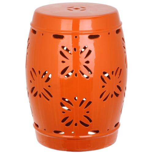 Safavieh  Sakura Orange Garden Stool
