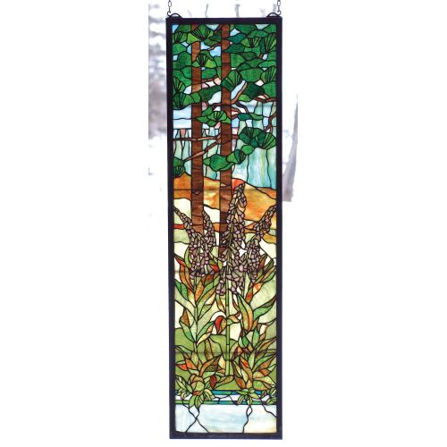 Meyda Tiffany 74037 Stained Glass Tiffany Window from the Wildflowers Collection