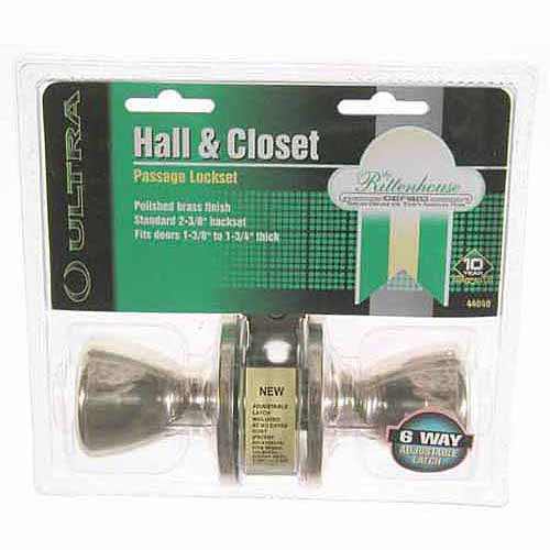 Ultra 44040 Polished Brass The Rittenhouse Hall and Closet Lockset