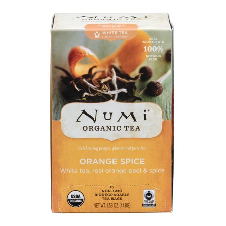 Numi Orange Spice Organic Tea, 16 count, 1.58 oz (Numi Red Tea)
