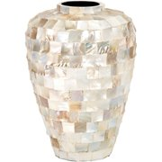 Decmode-ceramic Shell Inlay Vase -shell