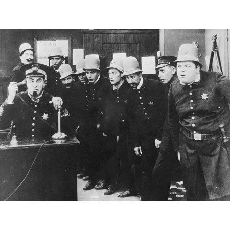 The Keystone Kops in 'The Gangsters', 1914 Print Wall Art