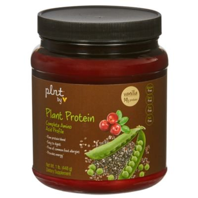 plnt Plant Protein  Vanilla  With Complete Amino Acid Profile, NonGMO, Vegan Raw Protein Blend  Easy To Digest  Provides Energy Support (1 Pound Powder)