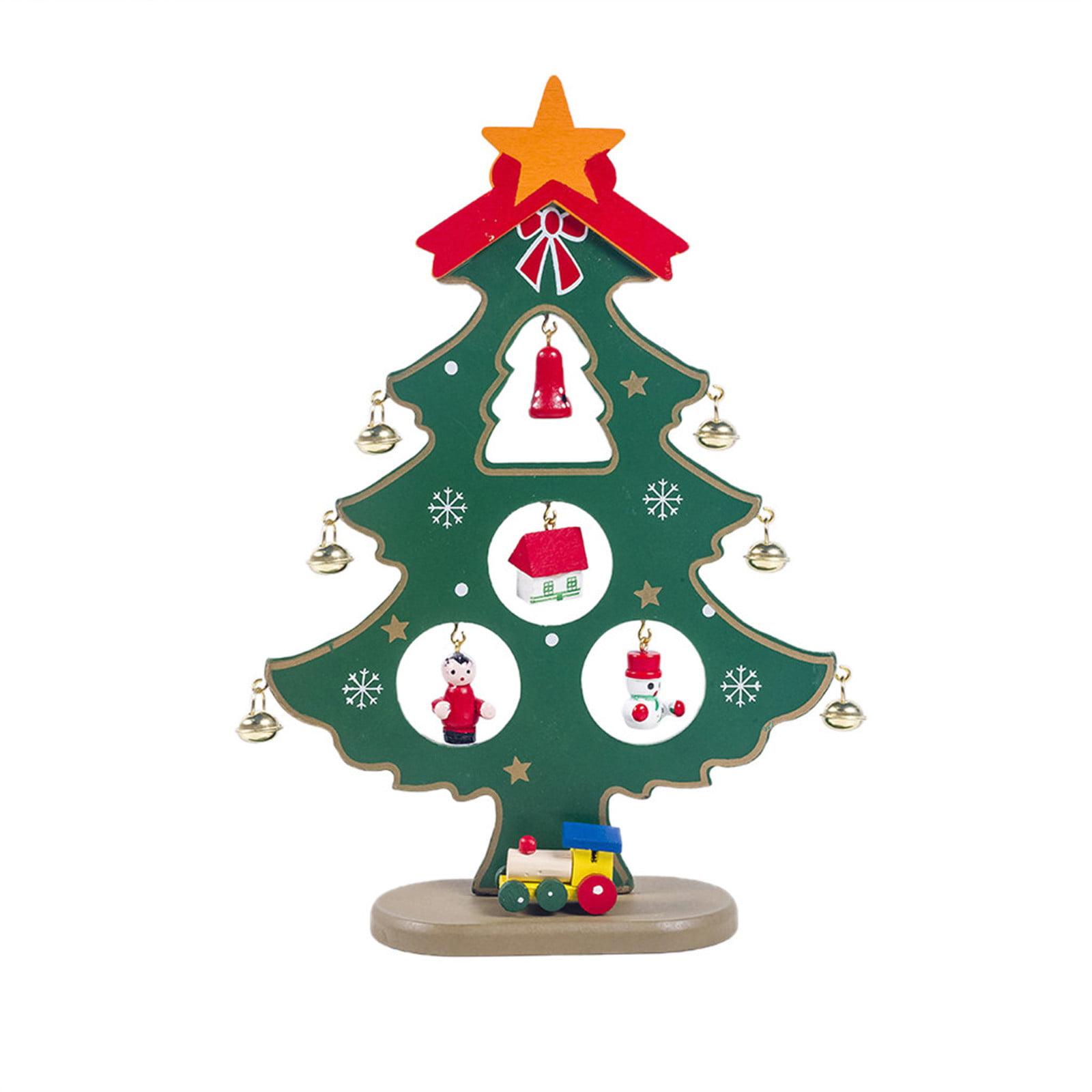Onuneed Mini Christmas Tree Santa Claus Snowman Wooden Swing Decoration Party Decor Walmart Com Walmart Com