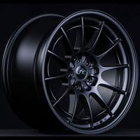 "JNC Wheels - 18"" JNC033 Matte Black Rim - 5x114.3 - 18x8.5 inch JNC033MB"
