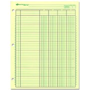 """Rediform National Side Punched Analysis Pads - 50 Sheet(s) - Gummed - 11"""" x 8.50"""" Sheet Size - 3 x Holes - Green Sheet(s) - Green, Brown Print Color - 50 / Pad"""