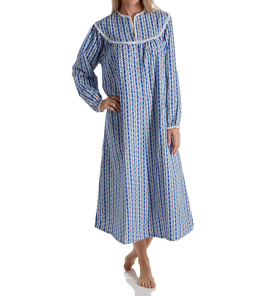 Lanz of Salzburg 5416828 Long Sleeve Flannel Gown