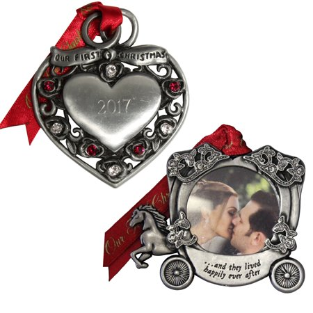 Gloria Duchin Married Couple's First Christmas Ornament 2-Piece Set
