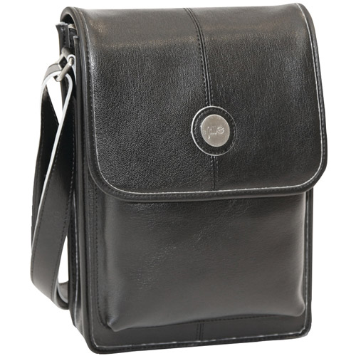 "Jill-E 384362 10"" Metro Tablet Bag, Black with Silver Trim"