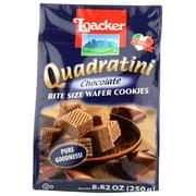 Loacker Quadratini Bite Size Chocolate Wafer Cookies, 8.82 Oz