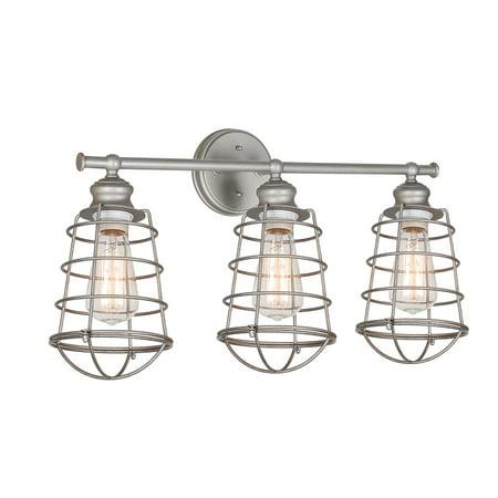 (Design House 519728 Ajax 3-Light Vanity Light, Galvanized Steel)