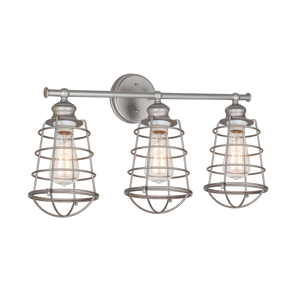 Design House 519728 Ajax 3-Light Vanity Light, Galvanized Steel