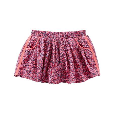 OshKosh B'gosh Baby Girls' 2 Piece Confetti Print Skirt, 9 Months Two Piece Skirt