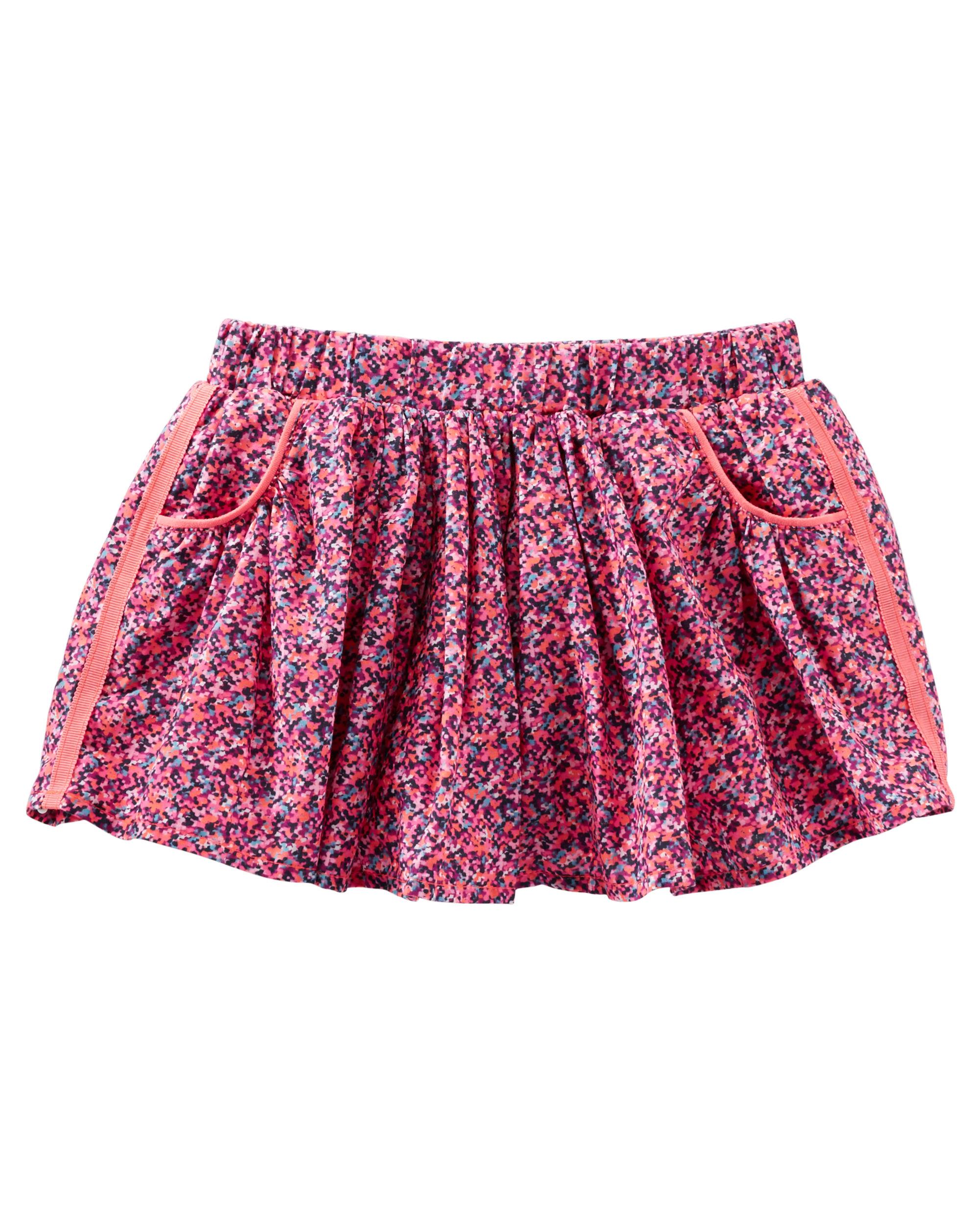 OshKosh B'gosh Baby Girls' 2 Piece Confetti Print Skirt, 9 Months