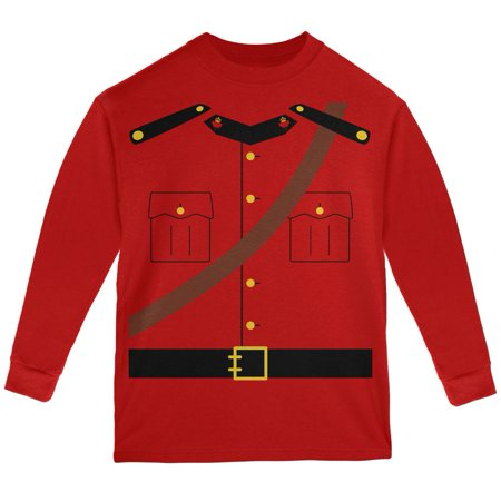 Halloween Canadian Mounty Police Costume Youth Long Sleeve T Shirt - Canada Halloween