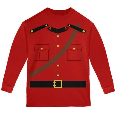 Halloween Canadian Mounty Police Costume Youth Long Sleeve T Shirt - Halloween Canada 2017 Date