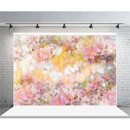 HelloDecor Polyster 7x5ft Sweet Flowers Backdrop Hazy Wooden Wall Floorboard Photography Background Girl Adult Kid Infant Baby Artistic Portrait Photo Shoot Studio Props Video Drop - Halloween Photo Shoot Ideas For Infants