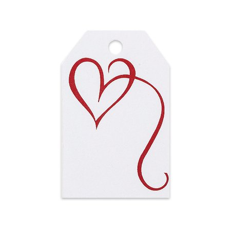 - Fancy Heart Gift Wrap / Gift Bag  Tags -25pack