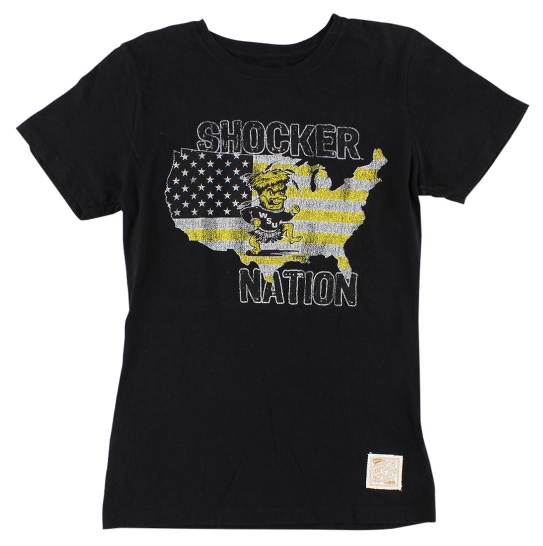 The Victory Womens Wichita State Shockers College Basic Crew T Shirt Black S