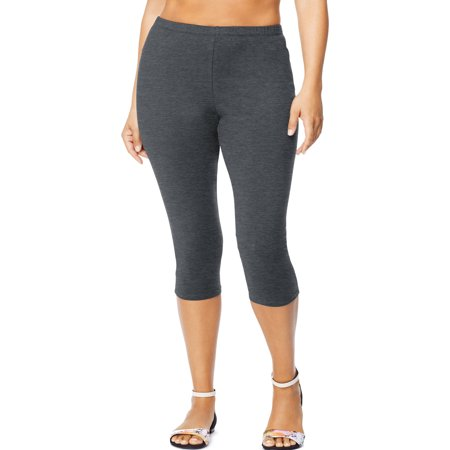 Just My Size Women's Plus-Size Stretch Jersey Capri Legging ...