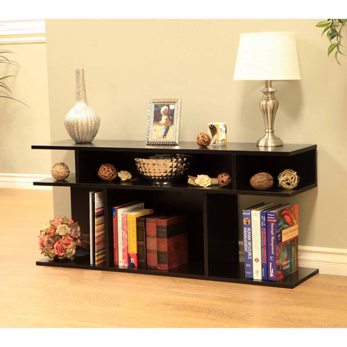 Home Craft Wood/Console Sofa Table, Black