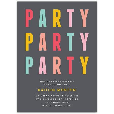 Party Party Party Party General Invitation](Custom Birthday Invitations)