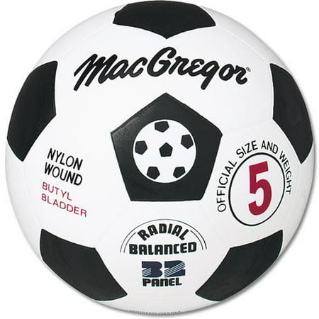 MacGregor® Black and White Rubber Soccer Ball, Size 5 Adidas Orange Soccer Ball
