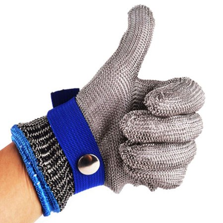 Cut Resistant Gloves Stainless Steel Wire Metal Mesh Butcher Safety Work Gloves for Cutting, Slicing Chopping and Peeling (Butchers Stainless Steel Glove)