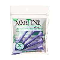 "Martini Golf 3-1/4"" Durable Plastic Tees  5 Pack (Purple)"