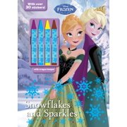 Color & Activity with 4 Chunky Crayons: Disney Frozen Snowflakes and Sparkles: With Crayon Keeper! (Paperback)