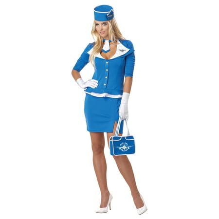 Stewardess Halloween Costume (Adult Retroc Stewardess Costume California Costumes)