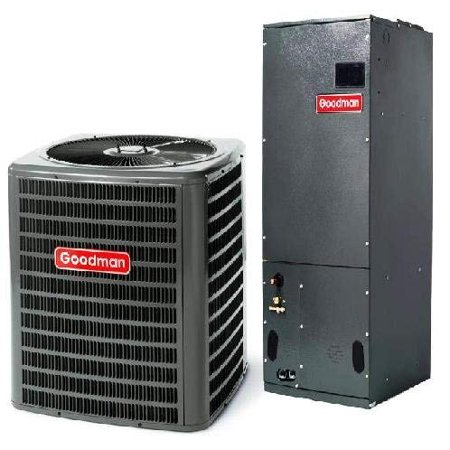 2.5 Ton Goodman 16 SEER R-410A Air Conditioner Split System Air Conditioning Systems are Split Systems which consist of the outdoor air conditioner and the indoor Air Handler (blower, fan coil). The system provides cooling only. For added warmth during the coldest months, heat strips (sold separately) may be installed at time of installation. Our systems provide excellent noise control to reduce noise during operation. Systems come pre-charged with environmentally friendly R-410A refrigerant. Includes outdoor air conditioner and indoor air handler. Copper lines and any other accessories are sold separately. Please consult with your licensed HVAC contractor to ensure system is correct for your installation. This listing is for the product only. Installation is not included.