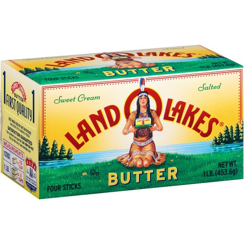 Land O'Lakes Sweet Cream Salted Sweet Butter Sticks, 4 count, 1 lb