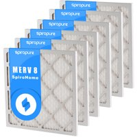 SpiroPure 10X30X1 MERV 8 Pleated Air Filters - Made in USA (6 Pack)