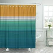 CYNLON Blue Minimalist Swimming Pool Abstract Teal Modern Turquoise Aqua Bathroom Decor Bath Shower Curtain 60x72 inch