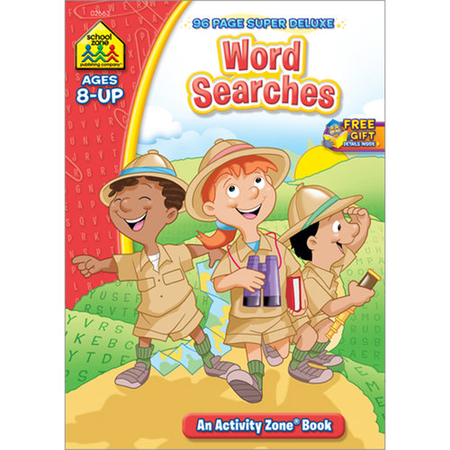 Super Deluxe Workbook, Word Searches, Ages 8+
