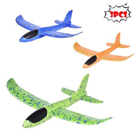 Iuhan 3Pack Airplane Toy Throwing Foam Plane Gliders Flying Aircraft Best Outdoor (Best Flying Toys 2019)