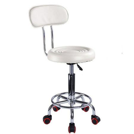 Ktaxon Adjustable Hydraulic Swivel Stool Beauty Spa Salon White Stripe Chair & Backrest - image 2 de 4