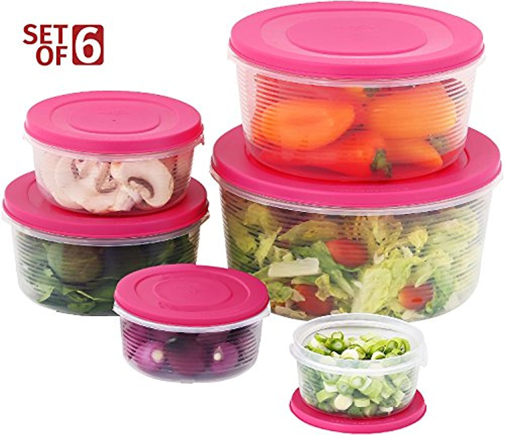 Mixing Bowl Set With Lids; Kitchen Food Storage Containers, Plastic  Airtight Nesting Stackable Meal