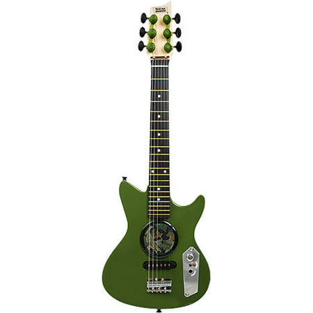 first act electric guitar with built in speaker green camo. Black Bedroom Furniture Sets. Home Design Ideas