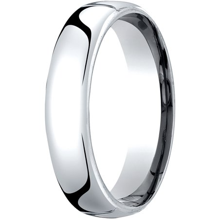 Mens 18K White Gold, 5.5mm London Couture Comfort-Fit Wedding Band