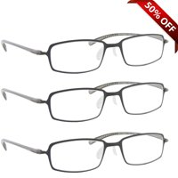33d39683f980 Product Image Reading Glasses +1.50 | 3 Pack of Readers for Men and Women |  3 Gray